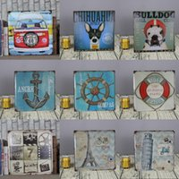 Wholesale x30cm ANGRE COMPAS BULLDOG vintage poster for wall bar pub home tin sign metal painting signs plaques decor