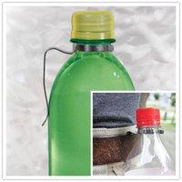 backpack drink holder - Outdoor Camping Water Bottle Hanger Portable Folding Stainless Steel Bottle Hook Drinking Bottles Holder for Backpack Clip