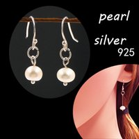 Wholesale 925 sterling silver natural pearl earrings women jewelry Purchasing agent