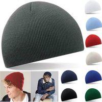 Wholesale Beanies Hat Hedging Cap Wool Caps Pea Hats Ski Chapeau Solid Color Thin Stripes Short Paragraph Male And Female Autumn Winter rz