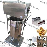 auto fryer - L Commercial Use v v Electric Auto Spanish Donut Churrera Churro Maker Machine with L Fryer ml Filler