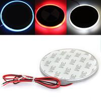 Wholesale LED Car Decal Sticker Logo Badge Emblem Light Lamp V For BMW Series Red White Blue Color