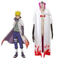 best naruto costumes - Anime Naruto Cosplay Cloak Costume Namikaze Minato th Yondaime Hokage Cape Gift Best Gift D33