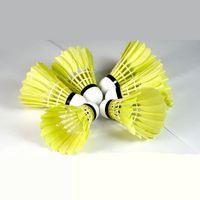 ball racquet - Brand New Advanced Durable Orange Luxury Goose Feather Badminton Shuttlecock tube Racquet Sport Ball