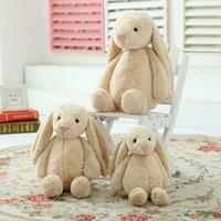 achat en gros de plush rabbit toy-Jouets pour enfants Poupées créatives Lapin doux Peluches jouets Lapin jouets mignons longues oreilles lapin Pâques Noël Saint Valentin Cadeau B1115