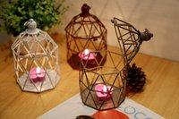 Wholesale YUMU Bird Cage Candle Holder Metal Lantern Centerpieces for Christmas Decoration Candlestick Favor Vintage Décor DH ZT