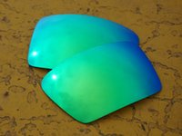 Wholesale BOTT Polarized Replacement Lenses for Eyepatch Sunglasses Green Mirror UVA UVB