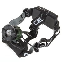Wholesale SecurityIng CREE XML T6 Lumen Rechargeable LED Headlamp Headlight Waterproof Zoomable Head Light Lamp with Charger LEG_538