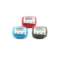 Pedometers as pic GK4516 Wholesale- Pedometer LCD Digital watch 3 buttons Step Counter Walking Distance kilometer Calorie Running pedometers drop shipping