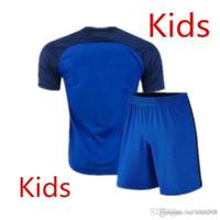 Cheap 16 17 France National team Kids Soccer Kits 2016 European Cup France Children football set 2017 POGBA GRRIEZMANN Youth uniform