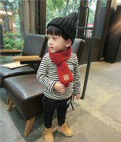 bib wool scarf - New Autumn Winter Fashion Girl Baby Bib Boys Knitted Wool Scarf Scarves For Children Warm Wild