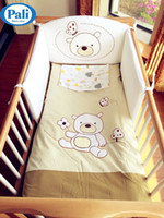 Wholesale Italy Pali bedding set four pieces crib bedding protection baby quilt bear cotton baby bumper pad