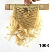 Wholesale Hot Ladies Women Wrap Around Small Short Wavy Curly Clip in Ponytail Heat Resistant Synthetic Hair Extensions Hairpieces