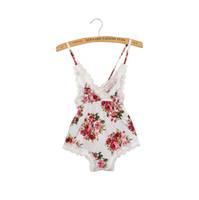 Wholesale Baby Girl Broken Flower Rompers Newborn Baby Cotton Rompers Infant Summer Suspender Rompers One Piece Bodysuit