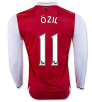 Wholesale Top quality Gunners Uniform Home OZIL WILSHERE RAMSEY ALEXIS GIROUD Welbeck Third Arsenals Long sleeve Jerseys With
