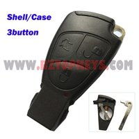 Wholesale Auto remote car key replacement Shell button with key blade with battery holder for old type Mercedes smart key Case