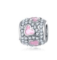 Wholesale Mickey Crystal Beads Charm Fit Sterling Silver European Charms Bead Bracelet Fit Snake Chain Pandora Bracelet Women DIY Jewelry