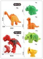 Los niños grandes de los bloques huecos de la partícula de los animales libres de la serie del dinosaurio juegan el regalo de los juguetes compatible con Legoe Duplo