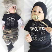 baby army outfit - Newborn Baby Boys Kids T shirt Tops Long Sleeve Army Green Camouflage Pants Outfits Baby Boy Clothes Sets