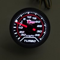 Wholesale quot mm Turbo Boost Gauge PSI Smoke Dial Face White LED Light Interior Dash