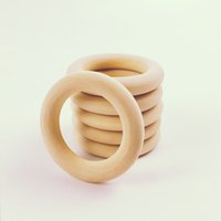 Wholesale 100pcs mm Unfinished Natural Small Round Wooden Rings Smooth Baby Teething Toss Wood Ring Infant Wooden Beads DIY Toys