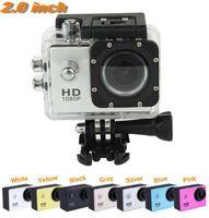 Compra Mini grabador de vídeo resistente al agua-Cámara impermeable del deporte de la leva de las cámaras del deporte Cámara de la acción del registrador video del coche 2.0 pulgadas HD lleno 1080P coche DVR mini DV 30M impermeabiliza 10pcs DHL JBD-D10