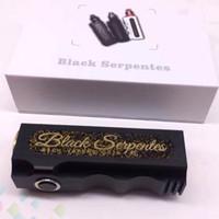 Vaporizer Negro Serpentes Caja Modifica 18650 Batería Enorme Vape Mod 7 colores Serpentes Mod E Cigarrillos Full Cobre Tubo DHL Libre