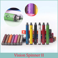 Revisiones Ii giro-Vision Spinner II 13 colores 1650 mah Cigarrillos electrónicos Ego Twist 3.3V-4.8V Vision Spinner 2 Ecigs para E cigarrillo Vape Pen