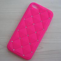 Precio de Iphone bling la rosa-Para la piel suave del silicón del Rhinestone de Bling del diamante de las rosas fuertes del iPhone 5C de Apple cubierta suave de la caja de la piel