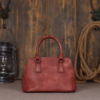 Wholesale Handmade Women Genuine Leather Elegant Vegetable Tanned Leather Hand Bags