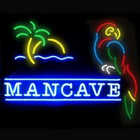 Wholesale Fashion New Handcraft Man Cave Parrot Real Glass Tubes Beer Bar Pub Display neon sign x15 Best Offer