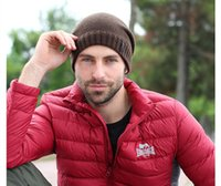 Wholesale 2017 New Winter Beanies Solid Color Super Thick Warm Wool Hat Unisex Outdoor Sports Knit Hat For Men Women