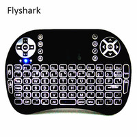 2.4GHZ android usb - Rii I8 GHz Wireless Mouse Gaming Keyboards White Backlight Multi color Backlit Remote Control for S905X S912 TV Android Box T95 X96