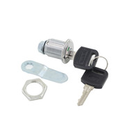 Wholesale 2pcs Silver Tone Metal mm Length Cam Lock with Keys Red Show Locked and Green Show Unlock for Mailbox Cabinet Cupboard