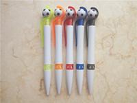 Wholesale 1000Pcs Press type plastic ballpoint pen creative footable advertisement ball pen School office Business promotion supplies DL_PBP001