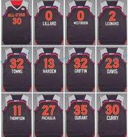 Tous les étoiles Jersey 2017 All-Star Brown 0 Russell Westbrook 13 James Harden 32 Karl Anthony Villes 3 Chris Paul 23 Anthony Davis 0 Damian Lillard