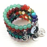 attracting love - Amethyst Rose Quartz Yinyang Bracelet Chakra Healing Attract love Bracelet Tuoquoise Chakra Prayer Spiritual Bracelet NS1162