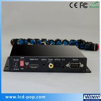Wholesale Mini Full HD Push Button HDMI Optical Coaxial Output Fiber Media Converter Smart hd Digital Signage Box