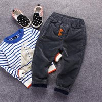 Casual Pants baby phat wholesaler - baby clothes Children with cashmere corduroy trousers thick Velvet Pants Plus new boy coltsfoot Baby Phat pants