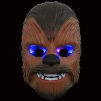Wholesale Star Wars Luminous mask The Force Awakens KaiLuoLun Chewbacca Lighting Headpiece Halloween Toys Kids Gifts OOA870
