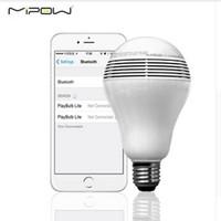 Wholesale Mipow PLAYBULB Smart Home Illumination LED Blub Light Wireless Bluetooth Speaker Mobile Phone Lamp For iphone android V V X freeDHL