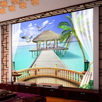 bedroom window pictures - D Stereo Custom HD Maldives Seaview Picture Background Wall Window Living Room Bedroom Wallpaper Mural