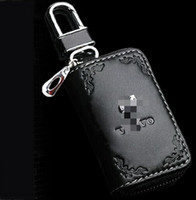 Wholesale High grade Car Key Holder Keychain Rings Fashional Toyota Volvo Car Key Case with lace Key Bag for volvo toyota