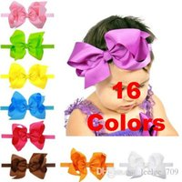 big elastic - 6 big hair bow with elastic bands kids headband baby headbands baby hair accessories hairband baby photography props CM Bow