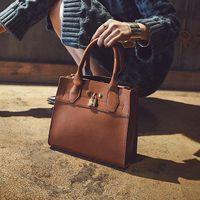 Wholesale Popular Women Handbags England Style Genuine Leather Zipper shoulder bag Handbags for Ladies with Lock Colors Fshion Brand Luxury Style