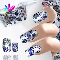Paper transfer net - New Star Foil Nail Art Sticker Dots Flowers Net Wavy Design Transfer Foils Decal Nails Manicure Beauty Tools Hot
