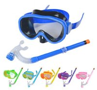 Leisure Goggles antifog mask - Drop Shipping New Children Swimming Diving Glasses Summer Kids Scuba Diving Mask Snorkel set Antifog Half Dry Snorkel Goggles
