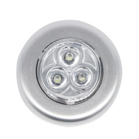 Round auto push - Super Bright LED Car Touch Night Light LED For Auto Car Interior Trunk Door Emergency Push Touch Light Night Beam Lamp
