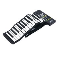 Wholesale 88 Keys Roll Up Piano Midi Out Music Recording Foot Pedals Flexible Silicone Midi Hand Roll Electronic Keyboard