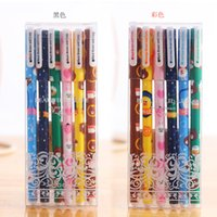 Wholesale Korea stationery creative cartoon animal and flower gel pen school office supplies pen